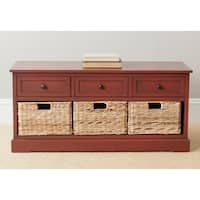 Safavieh Damien Red 3-drawer Storage Bench