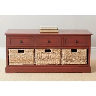 Safavieh Damien Red 3-drawer Storage Bench