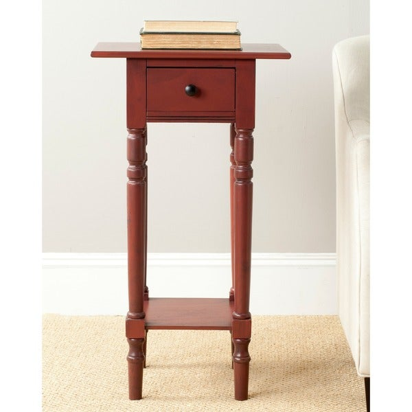 Shop Safavieh Sabrina Red End Table 17 7 Quot X 13 8 Quot X 31 9