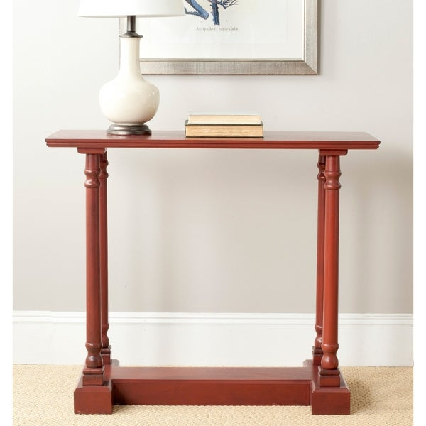 Safavieh Regan Red Console Table - 0. Opens flyout.