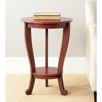 Safavieh Mary Red Pedastal Side Table