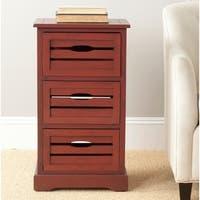 Safavieh Samara Red Storage 3-Drawer Cabinet