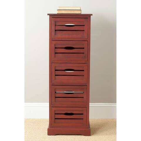 "Safavieh Sarina Red Storage 5-Drawer Cabinet - 16.5"" x 12.6"" x 46.5"""