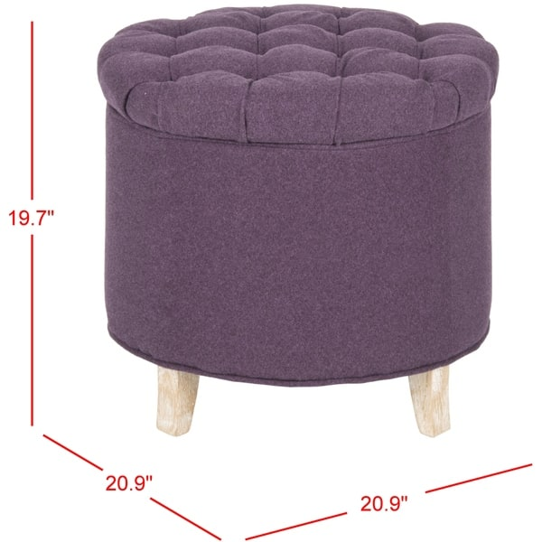 Excellent Shop Safavieh Amelia Plum Polyester Tufted Storage Ottoman Ncnpc Chair Design For Home Ncnpcorg
