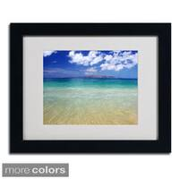 Pierre Leclerc 'Hawaii Blue Beach' Framed Matted Art