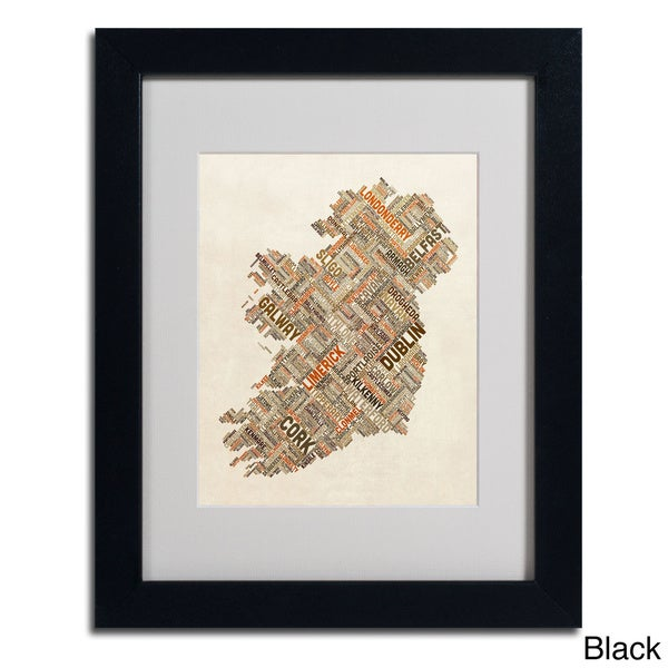 shop michael tompsett 39 ireland iii 39 framed matted art on sale free shipping on orders over. Black Bedroom Furniture Sets. Home Design Ideas
