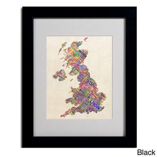 Michael Tompsett 'United Kingdom I' Framed Matted Art
