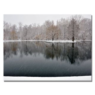 Kurt Shaffer 'Snowy Pond' Canvas Art