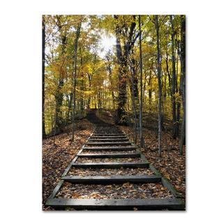Kurt Shaffer 'Fall Stairway 2' Canvas Art