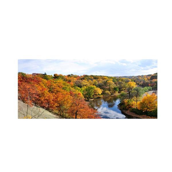 Kurt Shaffer 'Rocky River Autumn' Canvas Art - Multi