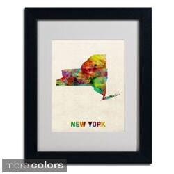 Michael Tompsett 'New York Map' Framed Matted Art