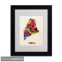 Michael Tompsett 'Maine Map' Framed Matted Art