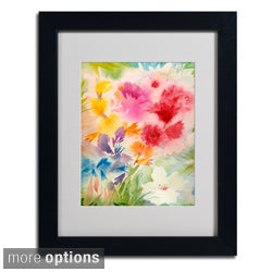 Sheila Golden 'Bright Garden' Framed Matted Art
