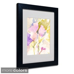 Sheila Golden 'Lavender Shadows' Framed Matted Art
