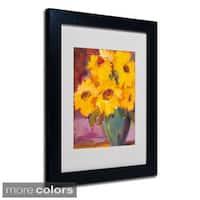 Sheila Golden 'Sunflower 5' Framed Matted Art