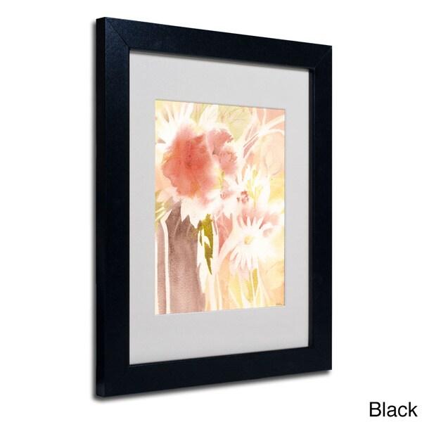 Sheila Golden 'Daisy Shadow' Framed Matted Art