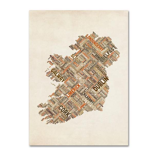 Michael Tompsett 'Ireland III' Canvas Art
