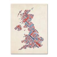 Michael Tompsett 'United Kingdom III' Canvas Art - Multi