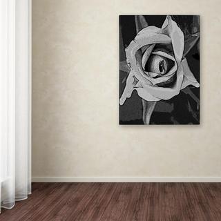 Patty Tuggle 'Black & White Rose' Canvas Art