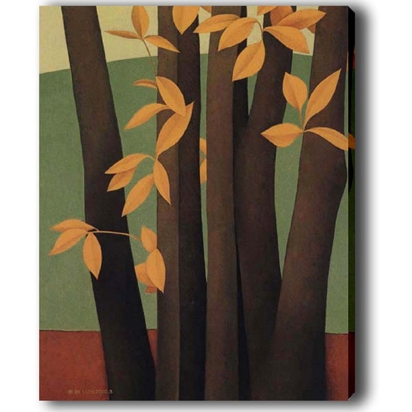 'Tree with Yellow Leaves' Giclee Canvas Art