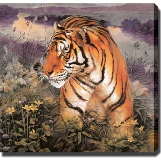 'Tiger on the Mountain' Giclee Print Canvas Art