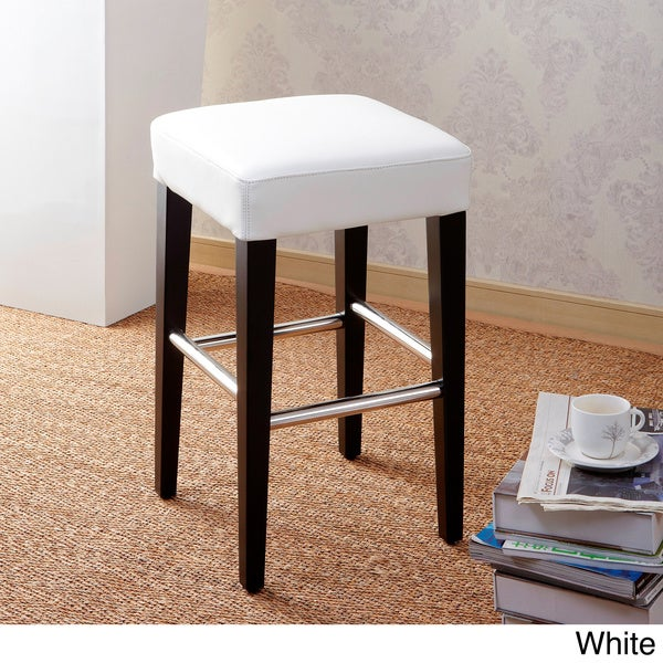 24 Quot Backless Counter High Stool In Genuine Leather Free