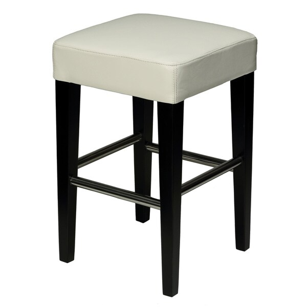 24-inch Backless Counter High Stool in Genuine Leather - Free Shipping Today - Overstock.com - 15590957  sc 1 st  Overstock.com & 24-inch Backless Counter High Stool in Genuine Leather - Free ... islam-shia.org