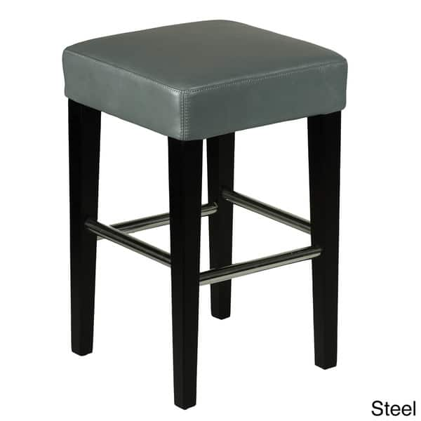 Remarkable Shop 24 Inch Backless Counter High Stool In Genuine Leather Machost Co Dining Chair Design Ideas Machostcouk