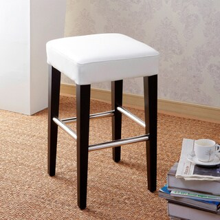 24-inch Backless Counter High Stool in Genuine Leather