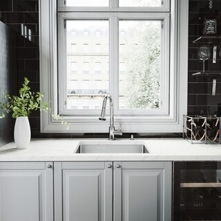 """VIGO All-In-One 23"""" Mercer Stainless Steel Undermount Kitchen Sink Set With Brant Faucet"""