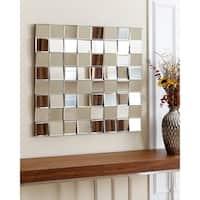 Abbyson Isabella Square Wall Mirror - Silver