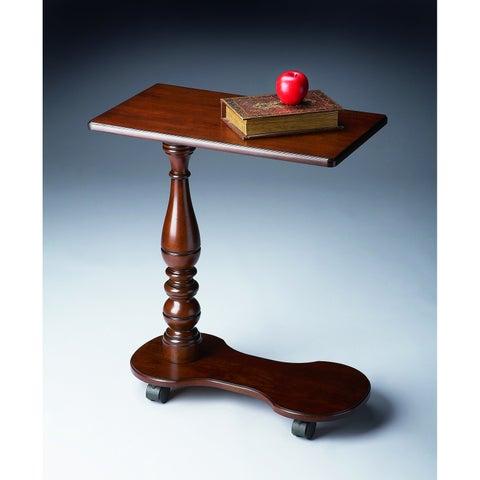Butler Transitional Rectangular Mobile Tray Table - Dark Brown