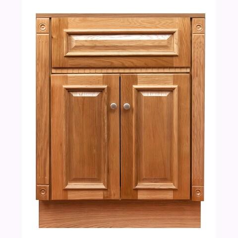 "24""x18""Oak Bathroom Vanity Cabinet"