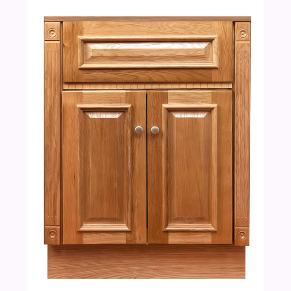 "Shop 24""x18""Oak Bathroom Vanity Cabinet - Overstock - 8268259"