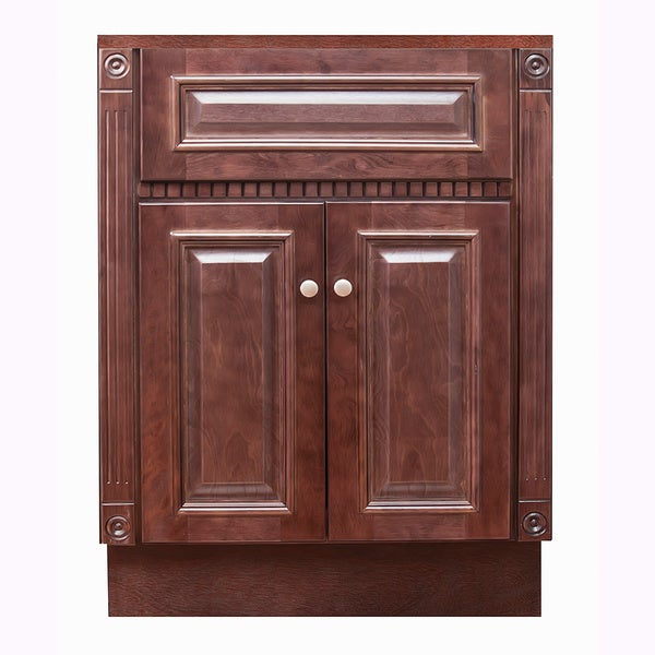 24 X18 Heritage Cherry Bathroom Vanity Free Shipping