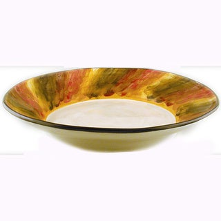 Tortoise Shell Ceramic Serving Bowl (Italy)