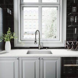 VIGO Ludlow Stainless Steel Kitchen Sink and Brant Faucet Set