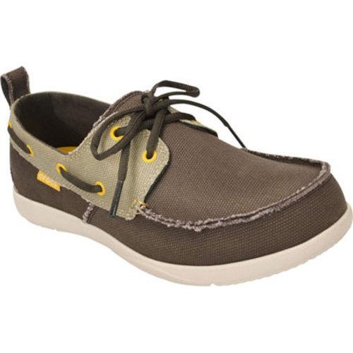 731d9b187da Shop Men s Crocs Walu Canvas Deck Shoe Espresso Stucco - Free Shipping  Today - Overstock - 8268524