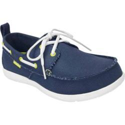 219b5435f22 Shop Men s Crocs Walu Canvas Deck Shoe Navy White - Free Shipping ...