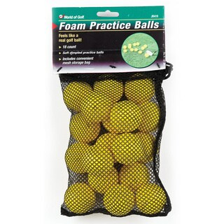 Jef World of Golf Yellow Foam Practice Balls
