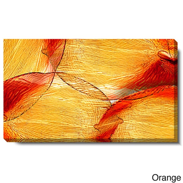 Studio Works Modern 'Conversions - Orange and Blue' Gallery Wrapped Canvas