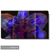 Studio Works Modern 'Night Flower in Purple, Yellow or Red' Gallery Wrapped Canvas