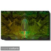Studio Works Modern 'Lily Bud - Green, Purple and Orange' Gallery Wrapped Canvas
