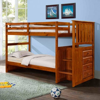 Donco Kids Mission Stairway Bunkbed (Twin/Twin)