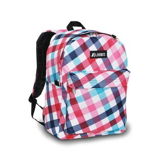 Everest 16.5-inch Red Blue Diamond Pattern Printed Backpack