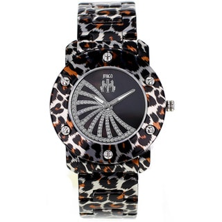 Jivago Women's Feline Watch with Mother-of-pearl Dial