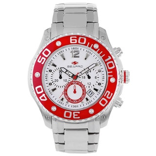 Seapro Men's Celtic Chronograph Watch with White Dial and Red Markers