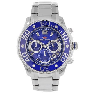 Seapro Men's Celtic Chronograph Watch with Blue Dial and Blue Markers