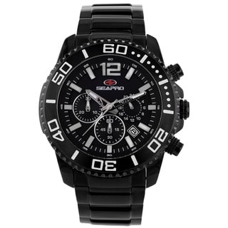 Seapro Men's Baltic Black Chronograph Watch