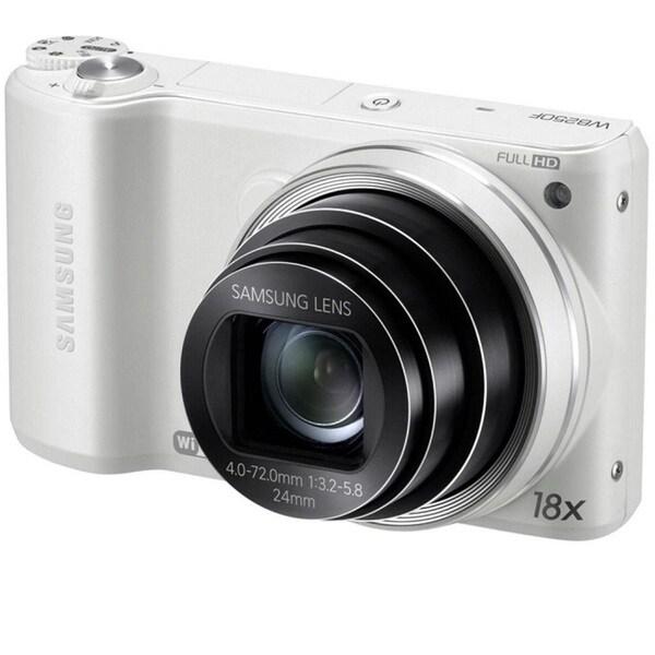 Samsung WB200F WiFi 16.4MP White Smart Digital Camera